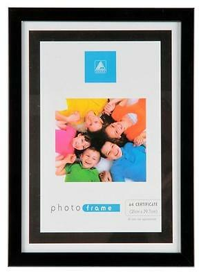 £3.95 • Buy A4 Certificate Photo Picture Frame Black Or Silver Frames