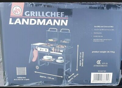 £349.99 • Buy LANDMANN Grill Chef Dual Fuel Gas And Charcoal BBQ Brand New FREE DELIVERY 🚚