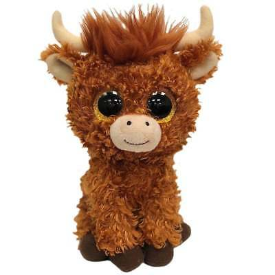 £5.99 • Buy TY Beanie Boo Angus Highland Cow Small Plush Soft Toy New 36659