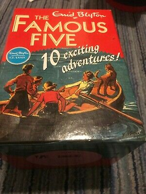 £4.99 • Buy Famous 5 Five By Enid Blyton 10 BOOK BOX SET IN SLIPCASE BEAUTIFUL CONDITION