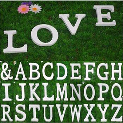 £5.39 • Buy Wooden Block Freestanding A-Z Alphabet Letters Word Wedding Party Birthday Decor