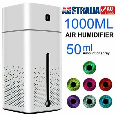 AU20.89 • Buy 1000ML Humidifier Electric Air Diffuser Aroma Oil Night Light Home Defuser GIFT