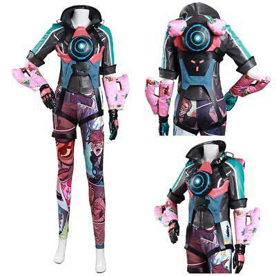 AU153.73 • Buy Overwatch OW Tracer Cosplay Costume Halloween Outfit Full Set