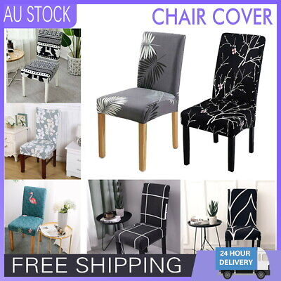 AU28.99 • Buy Stretch Dining Chair Covers Slipcover Spandex Wedding Cover 1/4/6/8Pcs Removable