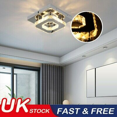 £8.98 • Buy Square Gorgeous LED Crystal Ceiling Down Light Panel Wall Kitchen Bathroom Lamp