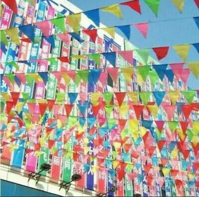 £1.79 • Buy 33 Feet 20 Flags Multi Colour Banner Bunting Party Home Garden Decoration Banner