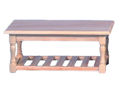 £8.99 • Buy Dolls House Bare Wood Refectory Kitchen Table Miniature Unfinished Furniture