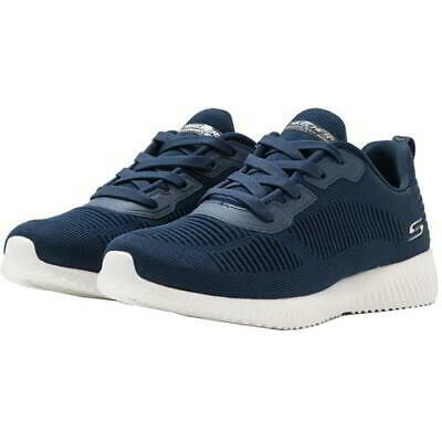 £49.99 • Buy Skechers Bobs Squad Womens Ladies Wide Fit  Blue Lace Up Trainers Shoes Size 5-8