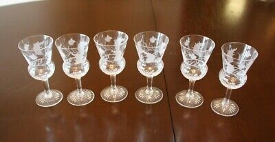 £34.99 • Buy 6 X Edinburgh Crystal Port Sherry Thistle Glasses Collection Only Tadworth