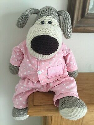 """£3.20 • Buy Lovely Boofle Knitted Soft Toy Floppy Teddy Dog """"Let's Cuddle"""" Tag 17"""" Long."""