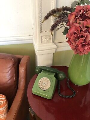 £50 • Buy Vintage Green Dial Telephone GPO 746 Working BT Dated 1970