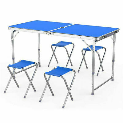 £27.99 • Buy Portable Table Set 4 Chair Folding Kitchen Camping Dining Outdoor Garden Picnic