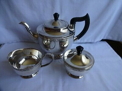 £48 • Buy Vintage Silver Plated Alpha Plate Tea Set By Viners Of Sheffield