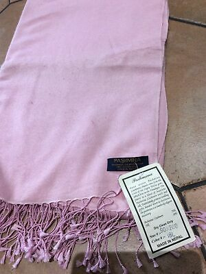 £18 • Buy Cashmere Silk Plain Knitted Scarf Wrap Blanket Throw Material Soft Baby Pink