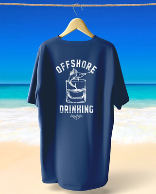 £5.67 • Buy Loose Anchor Blue Fish Beach Drinking T-Shirt Size S-XL