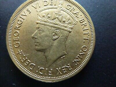 £7 • Buy British West Africa Brass Two Shillings 1949H. Nice Extremely Fine Coin.