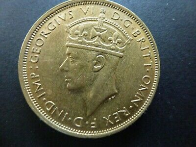 £9 • Buy British West Africa Brass Two Shillings, 1946H, Very High Grade With Lustre