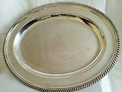 £17.99 • Buy Vintage Silver Plated Tray Serving Platter Dish Oval 35x27cms - Walker & Hall