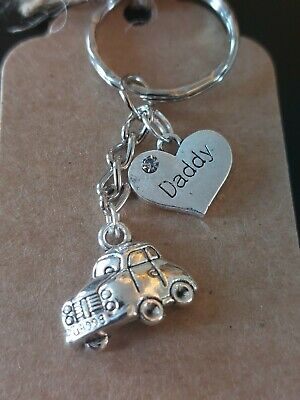 £3.50 • Buy Fathers Day Gift Keyring 'Daddy' Car Wrapped Craft Charms New Handmade Beetle VW