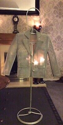 """£4.99 • Buy Tall Silver Metal Male Jewellery Stand With Wire Mesh Jacket. 23"""" Tall"""