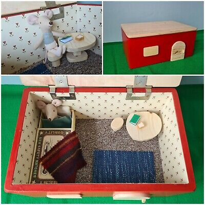 £50 • Buy Maileg Style Wooden Box House Table Chair Set NEW Little Brother Mouse Matchbox