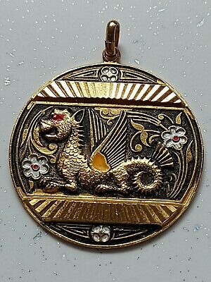£3.99 • Buy 🐲🐉eyecatching Chinese Dragon Coin Necklace Gold Tone Pendant🐲🐉