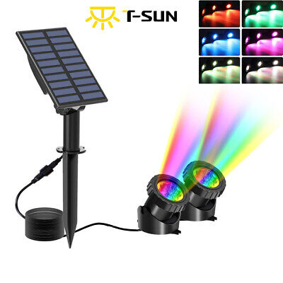 £17.84 • Buy LED Solar Powered Pond Lights Waterproof IP68 Submersible Lights Color Changing