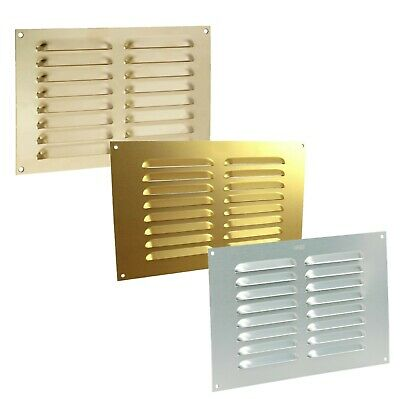 £3.45 • Buy Louvre Air Vent Cover Louvered Ventilation Ventilator Grille Slotted Louver