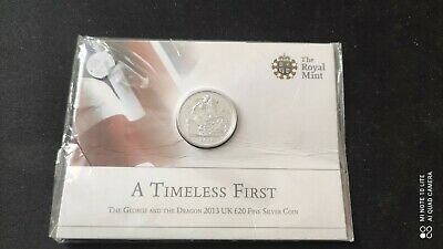 £14.99 • Buy 2013 St George And The Dragon £20 Silver Coin Mint Pack Sealed