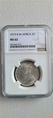 £212.39 • Buy British West Africa 2 Shillings 1919 NGC MS 62