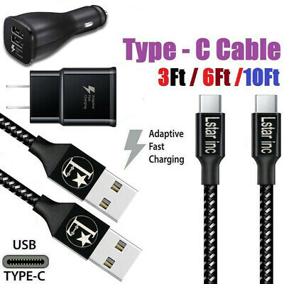 $ CDN16.43 • Buy 3/6/10Ft Fast Charger Type C USB Cable For OEM Samsung Galaxy S10 S9 S8 Note 8 9