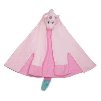 $ CDN42.62 • Buy Ganz - Pink Unicorn Wearable Blanket Hoodie With Plush Head And Tail For Kids