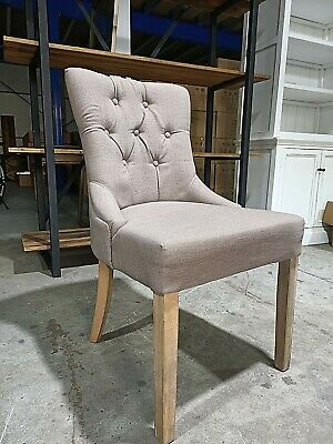 AU120 • Buy New French Provincial Tuffed Fabric Dining Chair
