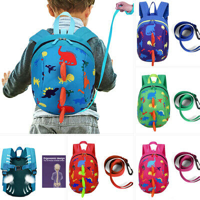 £6.59 • Buy Cartoon Baby Toddler Kids Dinosaur Safety Harness Strap Bag Backpack With Reins