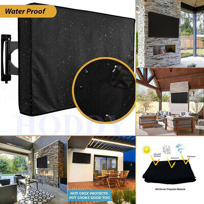£22.88 • Buy Outdoor Waterproof TV Cover Black Television Protector For 22'' To 65'' LCD LED