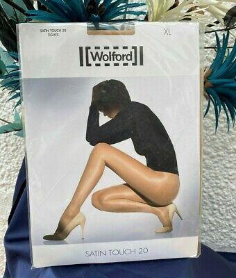 £8 • Buy Wolford Satin Touch Natural Tights Pantyhose 20 Denier Size XL