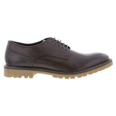 £19.99 • Buy Base London Bunker Mens Brown Leather Lace Up Shoes Size UK 6-12