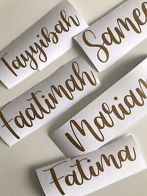 £1.95 • Buy Personalised Vinyl  Name Decal Stickers Gift Box