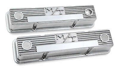 $203.95 • Buy Holley M/T Valve Covers Polished Vintage Style For Chevy Small Block Engines