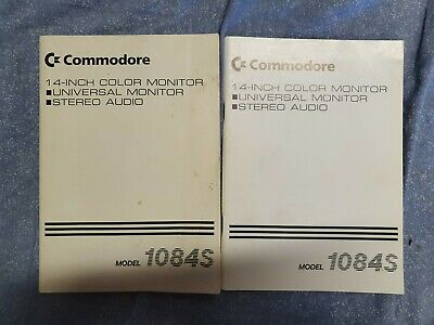 £5.45 • Buy Commodore 1084S Manual X 2 14 Inch Color Monitor C64 Amiga PICS OF SPECS ADDED