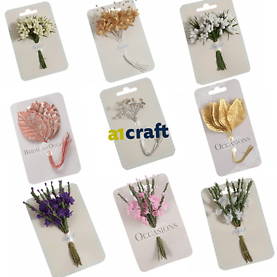 £4.99 • Buy Artificial Bridal Spray, Floral Wand ,Buttonholes And Flowers For Wedding Craft