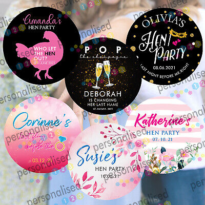 £2 • Buy Personalised Hen Do Party Night Stickers Wedding Favours POP Party Bag Labels