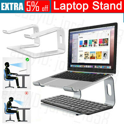 """AU30.95 • Buy Portable Aluminium Laptop Stand Tray Holder Cooling Riser For 11""""-17"""" MacBook OZ"""