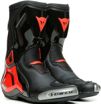 £85 • Buy  Dainese Boots Torque D1 Out Motorcycle, Black / Fluo-Red Size 41, Track