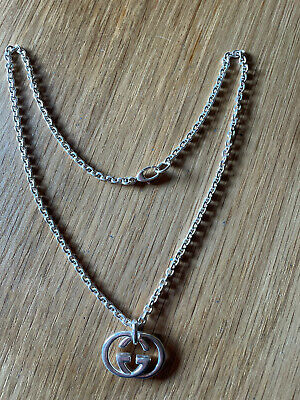 £200 • Buy Gucci Double G Silver Necklace