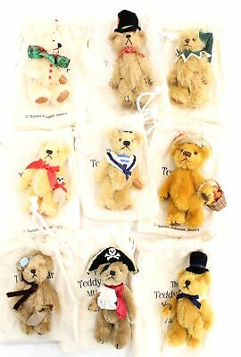 £34 • Buy Collection Of 9 DANBURY MINT The Teddy Bear Museum Mohair BEARS  - P15