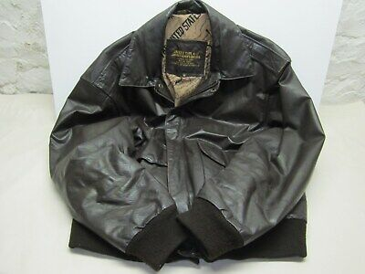 £88.73 • Buy Vintage US ARMY AIR FORCE A-2  Flyer's Bomber Brown Leather Jacket Size Large
