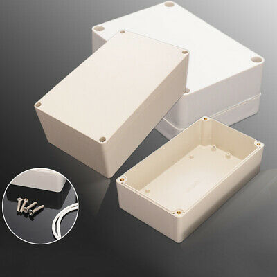 £4.35 • Buy White WATERPROOF ABS PLASTIC ELECTRONICS PROJECT BOX ENCLOSURE HOBBY CASE