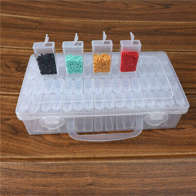 AU16.99 • Buy 64 Grids Jewellery Box Beads Organizer Storage Earrings Container Case Holder