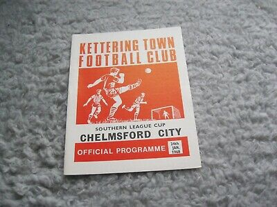 £1 • Buy KETTERING TOWN V CHELMSFORD CITY 24/1/68, SOUTHERN LEAGUE CUP